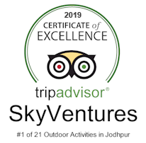 2018 TripAdvisor Certificate of Excellence to SkyVentures