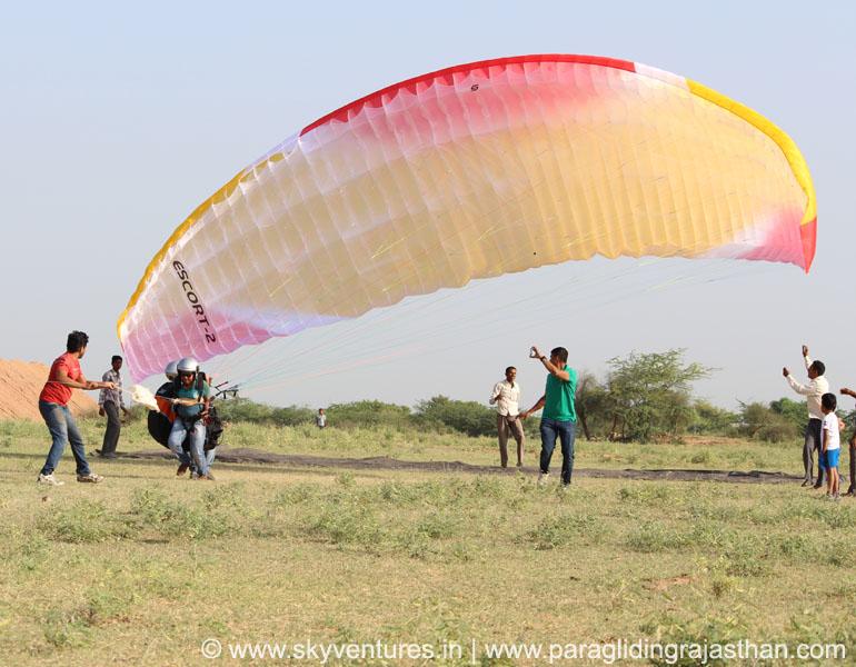 033 Tandem Paragliding Joy Ride Jodhpur, Jaipur, Jaisalmer, Pushkar rajasthan delhi india desert hot air balloon para sailing adventure flying fox zip line